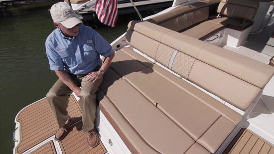 Sea Ray 270 Sundeck aft chaise