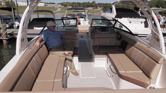 Sea Ray 270 Sundeck cockpit seats
