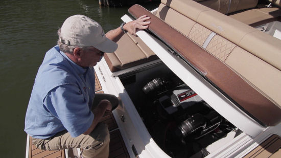 Sea Ray 270 Sundeck engine access