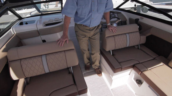 Sea Ray 270 Sundeck seats aft