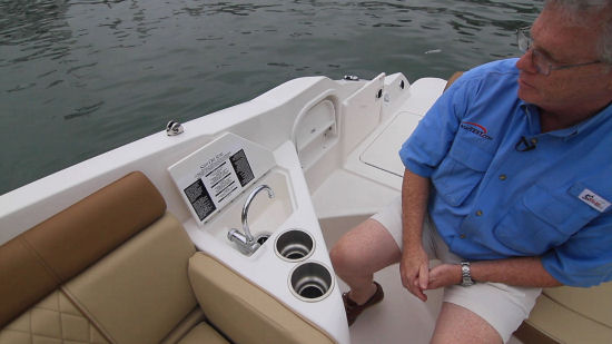 Sea Ray 270 Sundeck sink