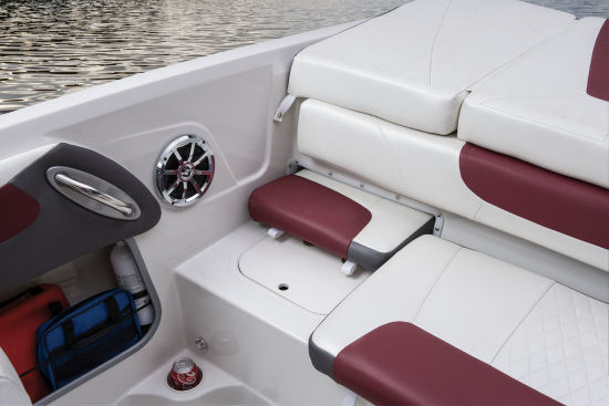 Tahoe 550 TS Outboard removable cushion