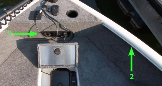 Tracker Pro Guide V-165 WT cup holder