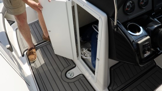 Yamaha 212 Limited S helm storage