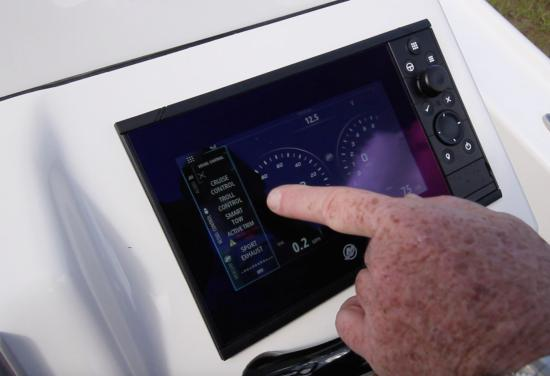 Yellowfin 24 CE touch screen